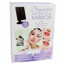 Косметическое зеркало с подсветкой Superstar Magnifying Mirror