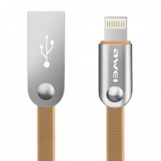 USB кабель Awei CL-17 Lightning 2m (золотой)