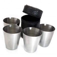 Набор металлических стаканов в чехле