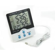 Цифровой термометр с гигрометром HTC-2A