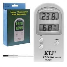 Цифровой термометр с гигрометром KTJ TA138A