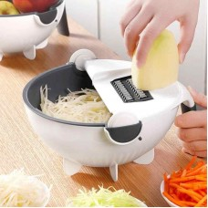 Многофункциональное устройство резки овощей Wet basket vegetable cutter multifunctional kitchen 9 in 1