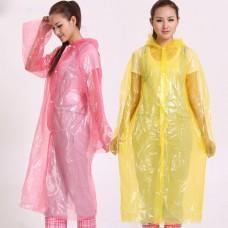 Цветные одноразовые плащи дождевые