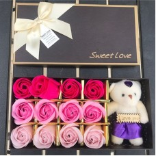 Набор мыло+ игрушка I Love You (12 шт) FL-005