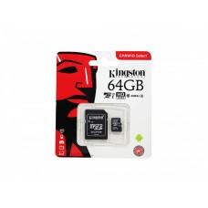 Карта памяти 64Gb Kingston Micro SD Card
