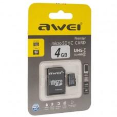 Карта памяти 4gb Awei micro sd card