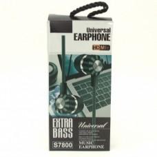 Вакуумные наушники гарнитура Extra Bass S7800